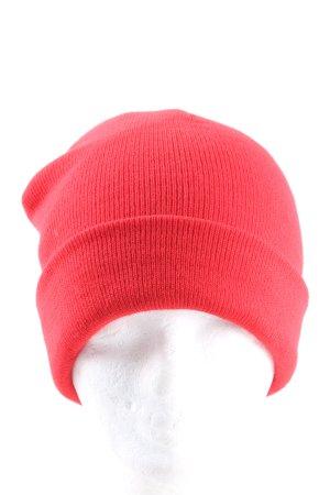 Asos Cappello a maglia rosso stile casual