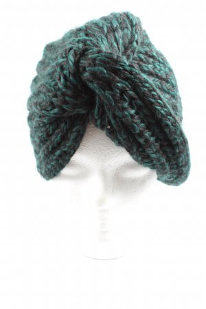 Asos Knitted Hat turquoise cable stitch casual look