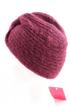 Asos Knitted Hat pink casual look