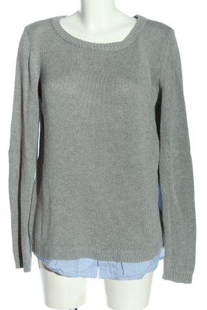 Asos Maglione lavorato a maglia grigio chiaro-blu motivo a righe stile casual