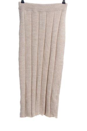 Asos Falda de punto crema moteado look casual