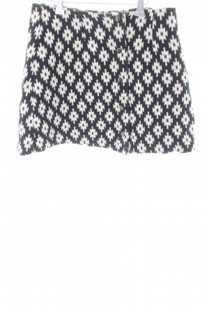 Asos Falda de punto negro-blanco puro elegante