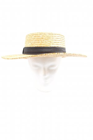 Asos Straw Hat primrose-black casual look