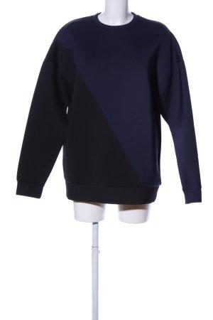 Asos Sweatshirt schwarz-blau Casual-Look