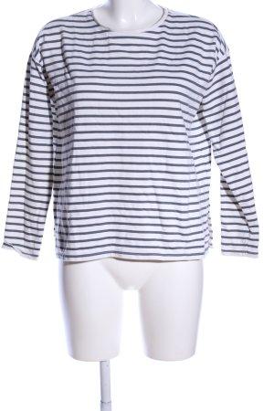 Asos Sweatshirt weiß-hellgrau Streifenmuster Casual-Look