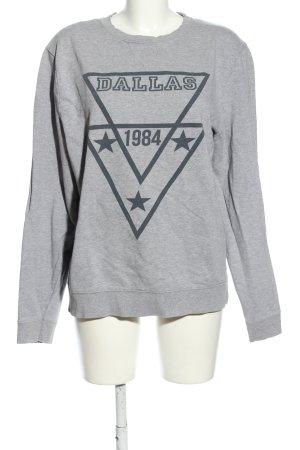 Asos Sweatshirt hellgrau-schwarz meliert Casual-Look