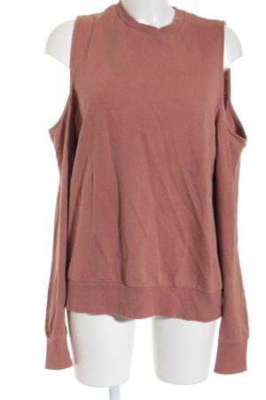 Asos Sweatshirt braunrot Urban-Look
