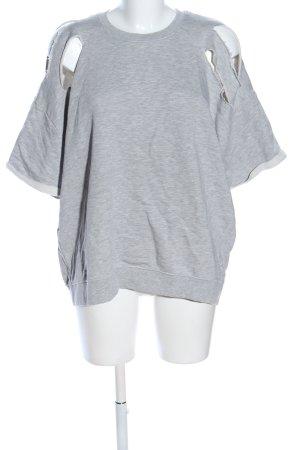 Asos Felpa grigio chiaro puntinato stile casual