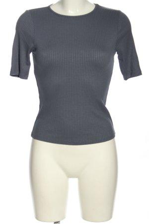 Asos T-Shirt hellgrau Streifenmuster Casual-Look