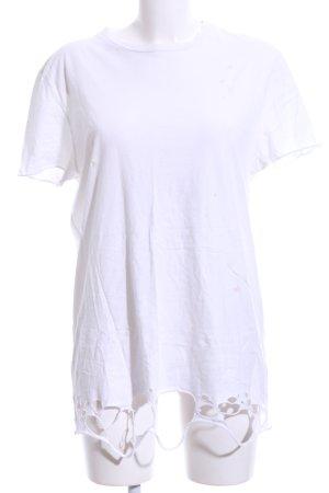 Asos T-Shirt weiß-hellgrau Motivdruck Casual-Look