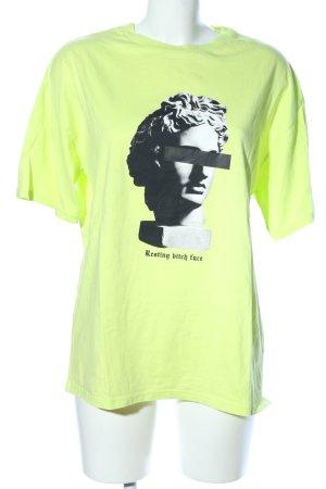 Asos T-Shirt grün-schwarz Allover-Druck Casual-Look