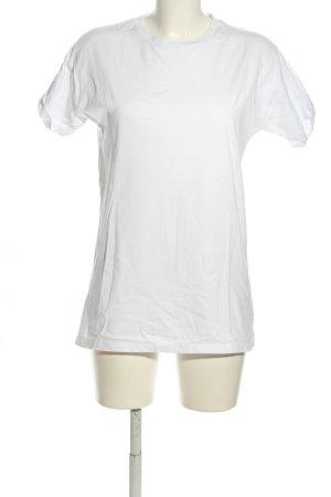 Asos T-Shirt weiß-schwarz Schriftzug gedruckt Casual-Look