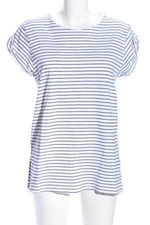 Asos T-Shirt weiß-hellgrau Allover-Druck Casual-Look