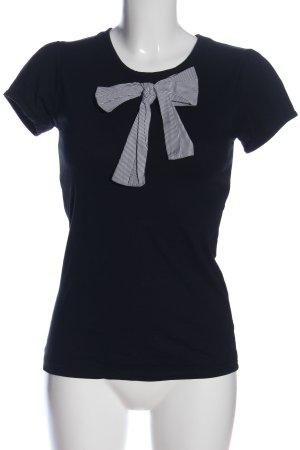Asos T-Shirt schwarz-weiß Streifenmuster Casual-Look