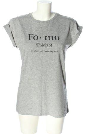 Asos T-Shirt hellgrau meliert Casual-Look