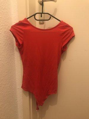 ASOS DESIGN Petite Shirt Body brick red spandex