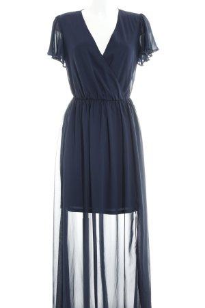 Asos Tall Robe longue bleu foncé élégant