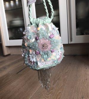 Asos Tasche Beuteltasche Abendtasche Sommertasche verzierte Tasche Handtasche Tasche mit Stickerei Blumenmotiv