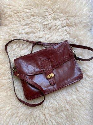 ASOS Tasche Rotbraun Umhängetasche Crossbody Bag Indie Braun Rot Schultertasche Zara Vintage
