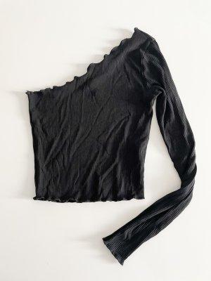 Asos Haut avec une épaule dénudée noir
