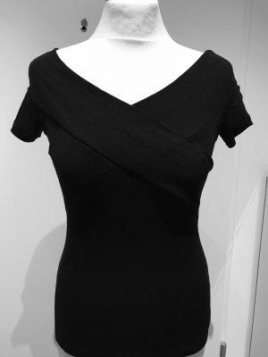 Asos Camisa tipo Carmen negro Viscosa
