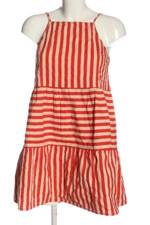 Asos Trägerkleid rot-creme Streifenmuster Casual-Look