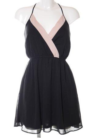 Asos Pinafore dress black-pink elegant