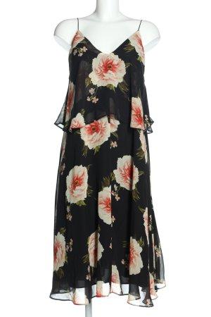 Asos Robe à bretelles noir-blanc motif de fleur élégant