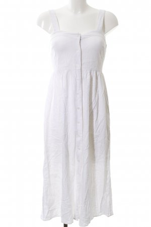 Asos Pinafore dress white linen