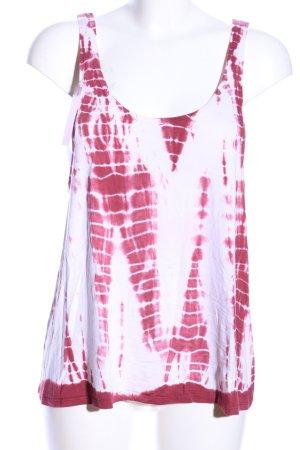 Asos Trägertop weiß-pink abstraktes Muster Casual-Look