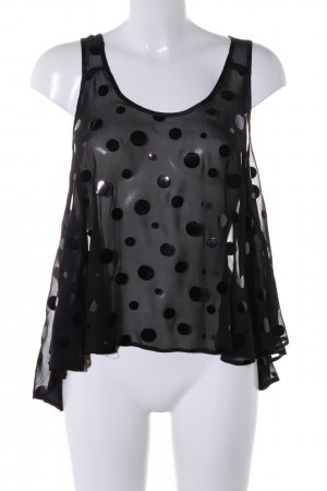 Asos Strappy Top black spot pattern casual look