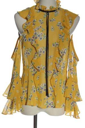 Asos Blusa trasparente giallo pallido stampa integrale elegante