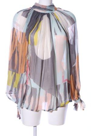 Asos Transparenz-Bluse abstraktes Muster Elegant