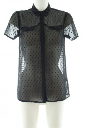 Asos Transparenz-Bluse schwarz Punktemuster Casual-Look