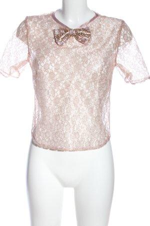 Asos Blusa trasparente rosa stampa integrale stile festa