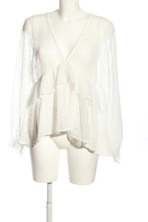 Asos Transparentna bluzka w kolorze białej wełny Elegancki