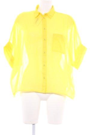 Asos Transparenz-Bluse neongelb extravaganter Stil