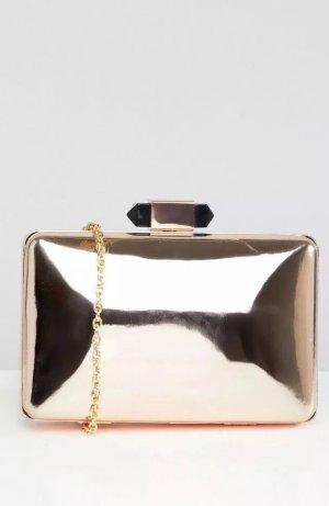 Asos True Decadence Tasche Bag Clutch Handtasche Rosé Spiegel Silber