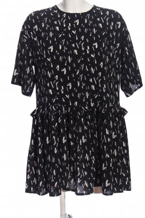 Asos Tunic Blouse black-white abstract pattern casual look