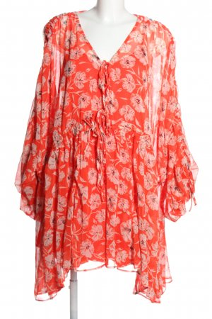 Asos Sukienka tunika czerwony-różowy Na całej powierzchni W stylu casual