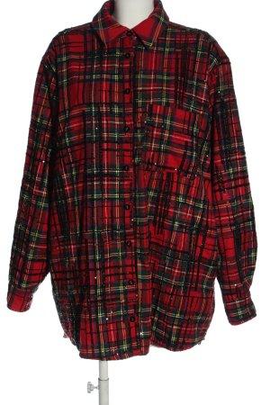 Asos Between-Seasons Jacket red-green check pattern casual look