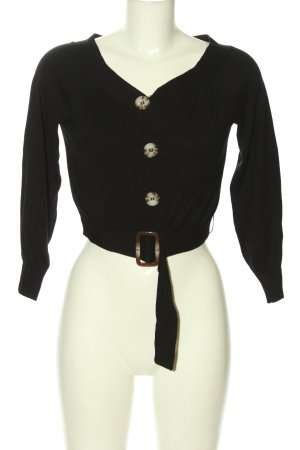 Asos V-Ausschnitt-Pullover schwarz Casual-Look