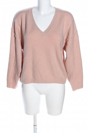 Asos V-Ausschnitt-Pullover nude Casual-Look