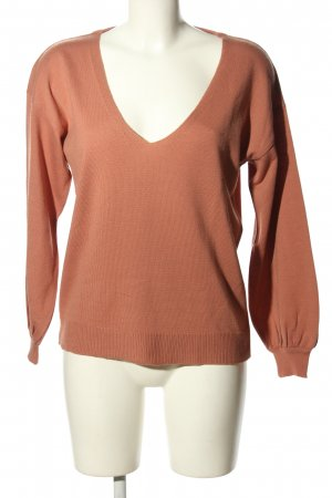 Asos V-Ausschnitt-Pullover braun Casual-Look