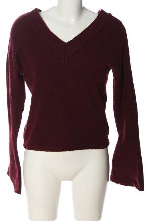 Asos V-Ausschnitt-Pullover rot Casual-Look