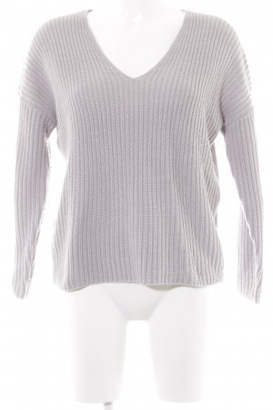 Asos V-Ausschnitt-Pullover hellgrau Casual-Look