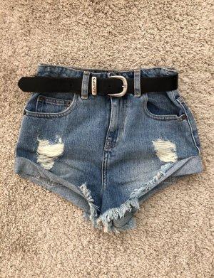 Asos Denim Shorts steel blue