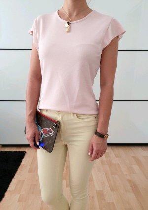 Asos Volant Bluse XS S 32 34 36 rosa Rüschen Shirt Oberteil Tunika Top Neu