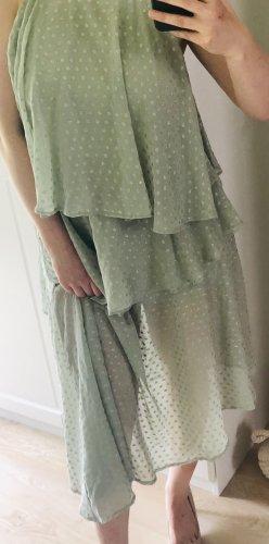Asos Robe à volants gris vert