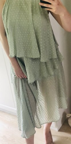 Asos Flounce Dress sage green